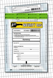 Alert Security Bag with tamper evident seal