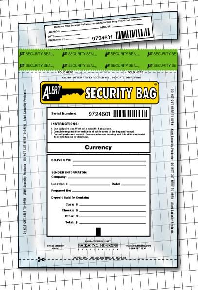 Alert Security Bag with tamper evident seal