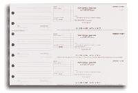 3-per-page Manual Deposit Slips