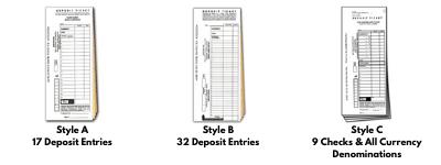 Business Deposit Tickets